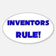 Inventors Rule! Oval Decal