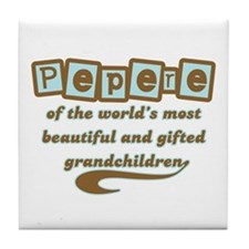Pepere of Gifted Grandchildren Tile Coaster