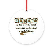 Pepere of Gifted Grandchildren Ornament (Round)