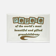 Pepere of Gifted Grandchildren Rectangle Magnet