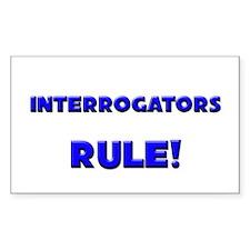 Interrogators Rule! Rectangle Decal