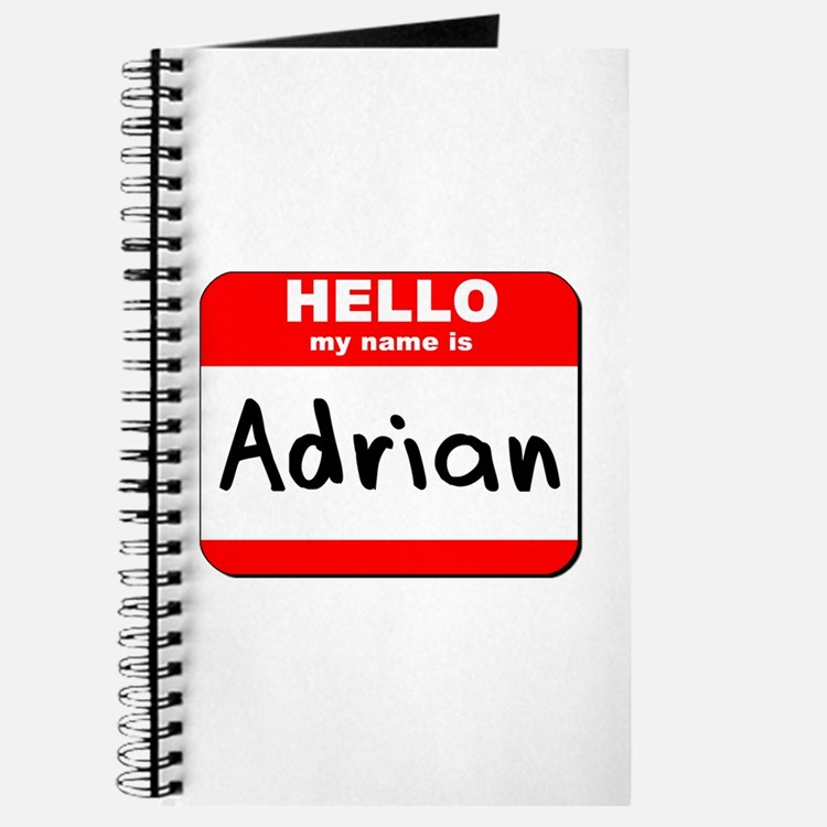 Hello my name is Adrian Journal