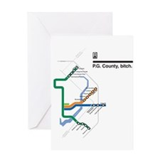 2-pg_county_shirts_white Greeting Cards