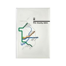 Cute Nyc subway trains Rectangle Magnet (10 pack)