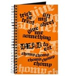Trick or Treat Rhyme Orange Journal