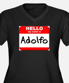 Hello my name is Adolfo Women's Plus Size V-Neck D