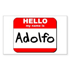 Hello my name is Adolfo Rectangle Decal