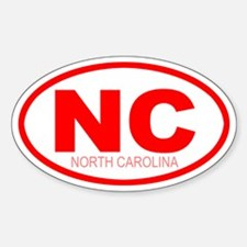 'NC (State)' Oval Decal