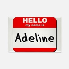 Hello my name is Adeline Rectangle Magnet
