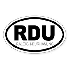 'Raleigh-Durham' Oval Decal