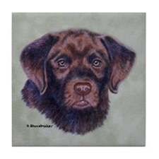 Barrett pup Tile Coaster