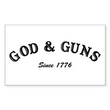 God and Guns Rectangle Bumper Stickers