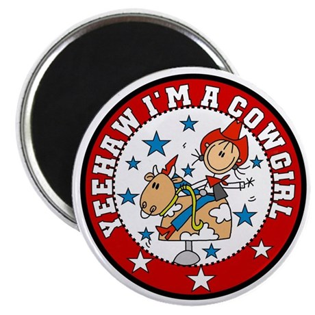 "Yeehaw Cowgirl 2.25"" Magnet (10 pack)"