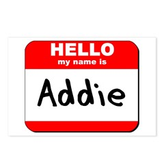 Hello my name is Addie Postcards (Package of 8)