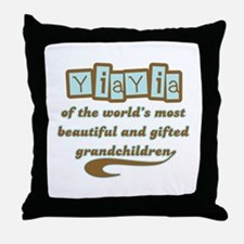 YiaYia of Gifted Grandchildren Throw Pillow