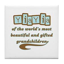 YiaYia of Gifted Grandchildren Tile Coaster