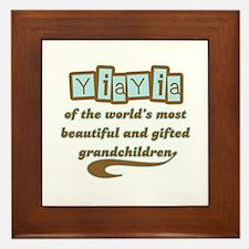 YiaYia of Gifted Grandchildren Framed Tile