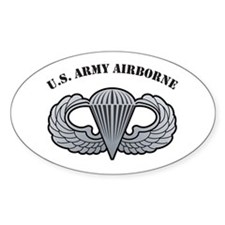 Basic Airborne Wings U.S. Arm Oval Decal