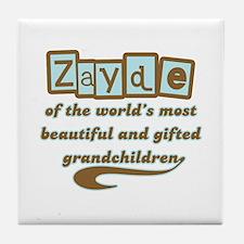 Zayde of Gifted Grandchildren Tile Coaster