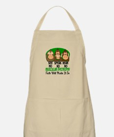 See Speak Hear No Muscular Dystrophy 1 BBQ Apron