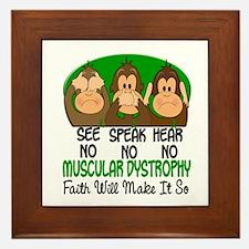 See Speak Hear No Muscular Dystrophy 1 Framed Tile