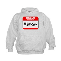 Hello my name is Abram Hoodie