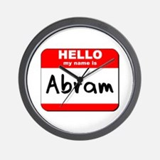 Hello my name is Abram Wall Clock