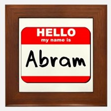 Hello my name is Abram Framed Tile