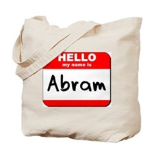 Hello my name is Abram Tote Bag
