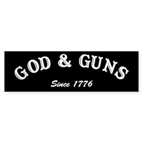 God and Guns Bumper Sticker