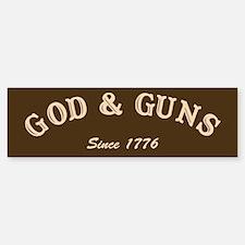 God and Guns Bumper Bumper Bumper Sticker