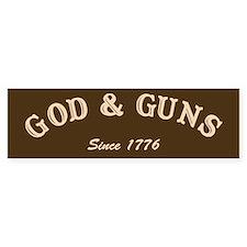 God and Guns Bumper Bumper Sticker