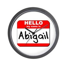 Hello my name is Abigail Wall Clock