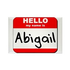 Hello my name is Abigail Rectangle Magnet