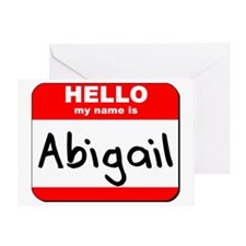 Hello my name is Abigail Greeting Card