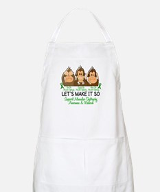 See Speak Hear No Muscular Dystrophy 2 BBQ Apron