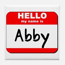Hello my name is Abby Tile Coaster