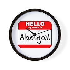 Hello my name is Abbigail Wall Clock