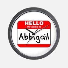 Hello my name is Abbigail Wall Clock
