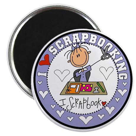 "I Love Scrapbooking 2.25"" Magnet (100 pack)"