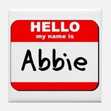 Hello my name is Abbie Tile Coaster