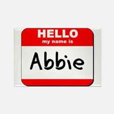 Hello my name is Abbie Rectangle Magnet