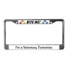 License Plate Frame - BITE ME! design Alt. font