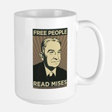 Free People Read Mises Large Mug