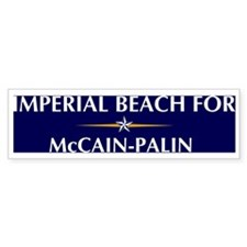 IMPERIAL BEACH for McCain-Pal Bumper Bumper Sticker