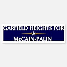 GARFIELD HEIGHTS for McCain-P Bumper Bumper Bumper Sticker
