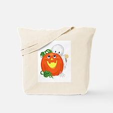 Cute Ghost & Pumpkin Tote Bag