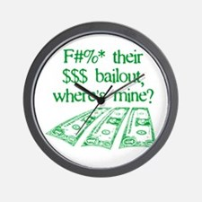 Bailout 2008 Wall Clock