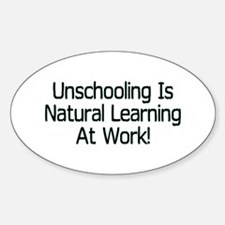 Unschooling Oval Decal