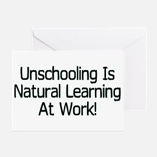 Unschooling Greeting Card